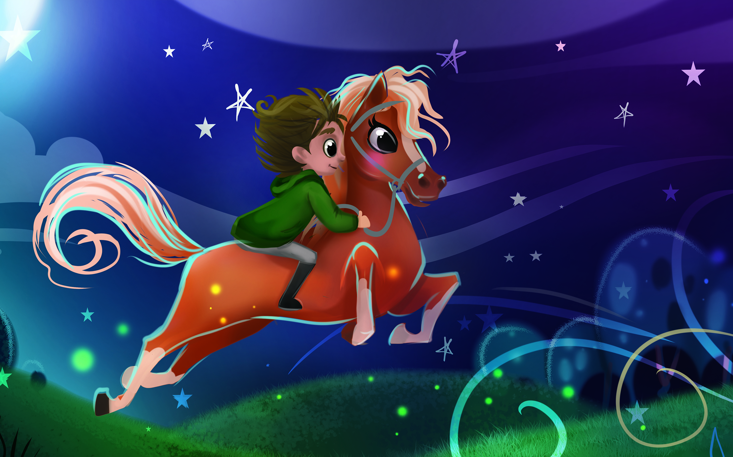 Boy flying gallop - My Secret Unicorn by The Kids Book Company