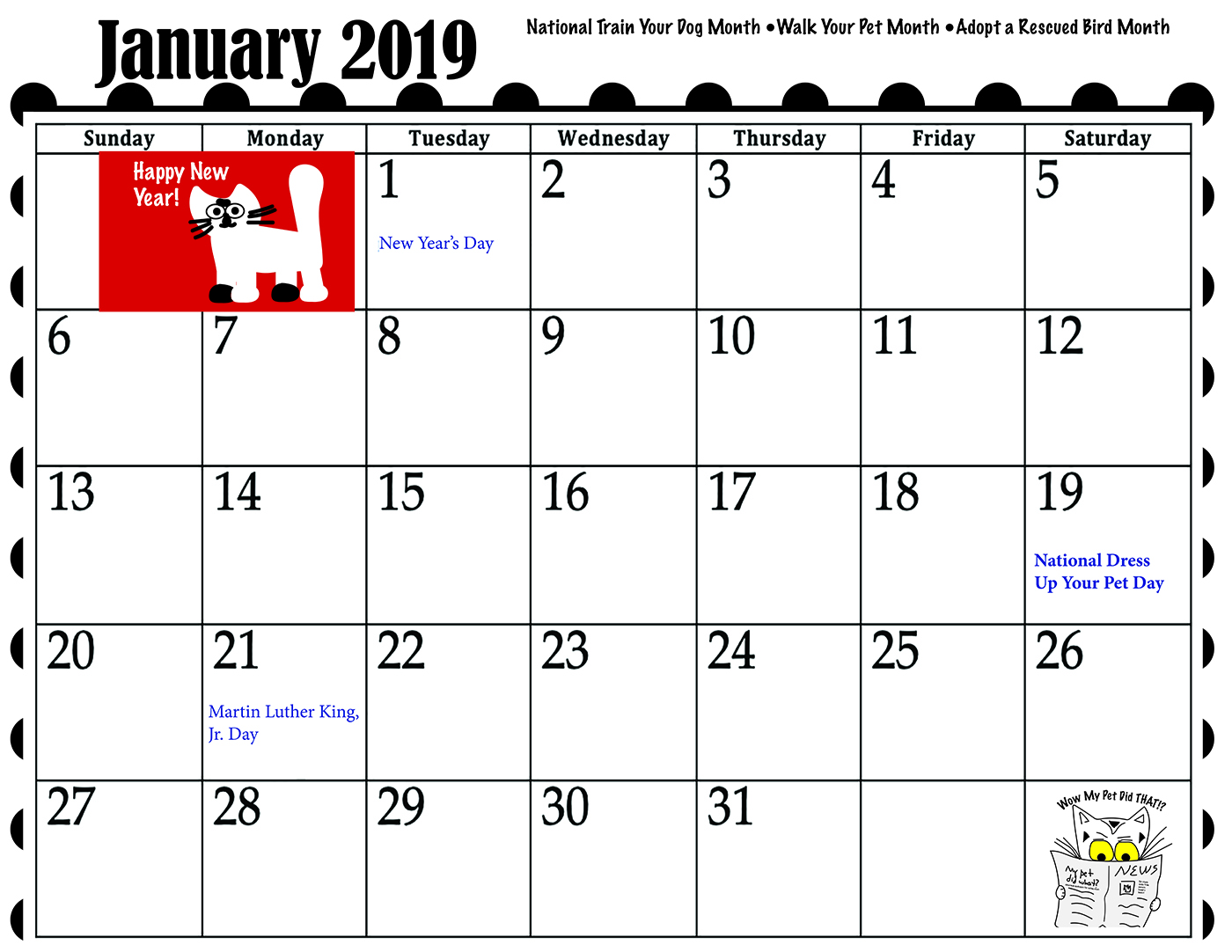 Get ready for the new year with our 2019 Calendar!