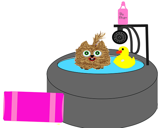 New: Bath time for puppy paper doll kit