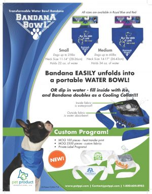 Bandana Bowl is a fun and super easy way to keep pet hydrated on walks