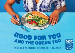 Organization encourages consumers to look for the 'blue label' and help protect our oceans when shopping for seafood (including pet food)