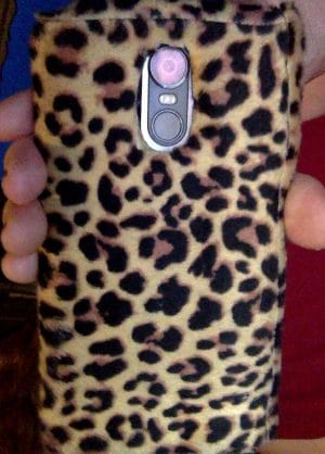 Refurbishing an old cellphone case with a fur pattern — for a dollar!
