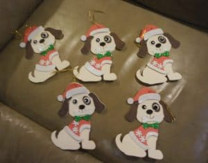 Cute and easy dog tree ornament kit
