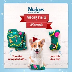 Not sure what to do with that ugly Christmas sweater or tie? Make it into a dog or cat treat!