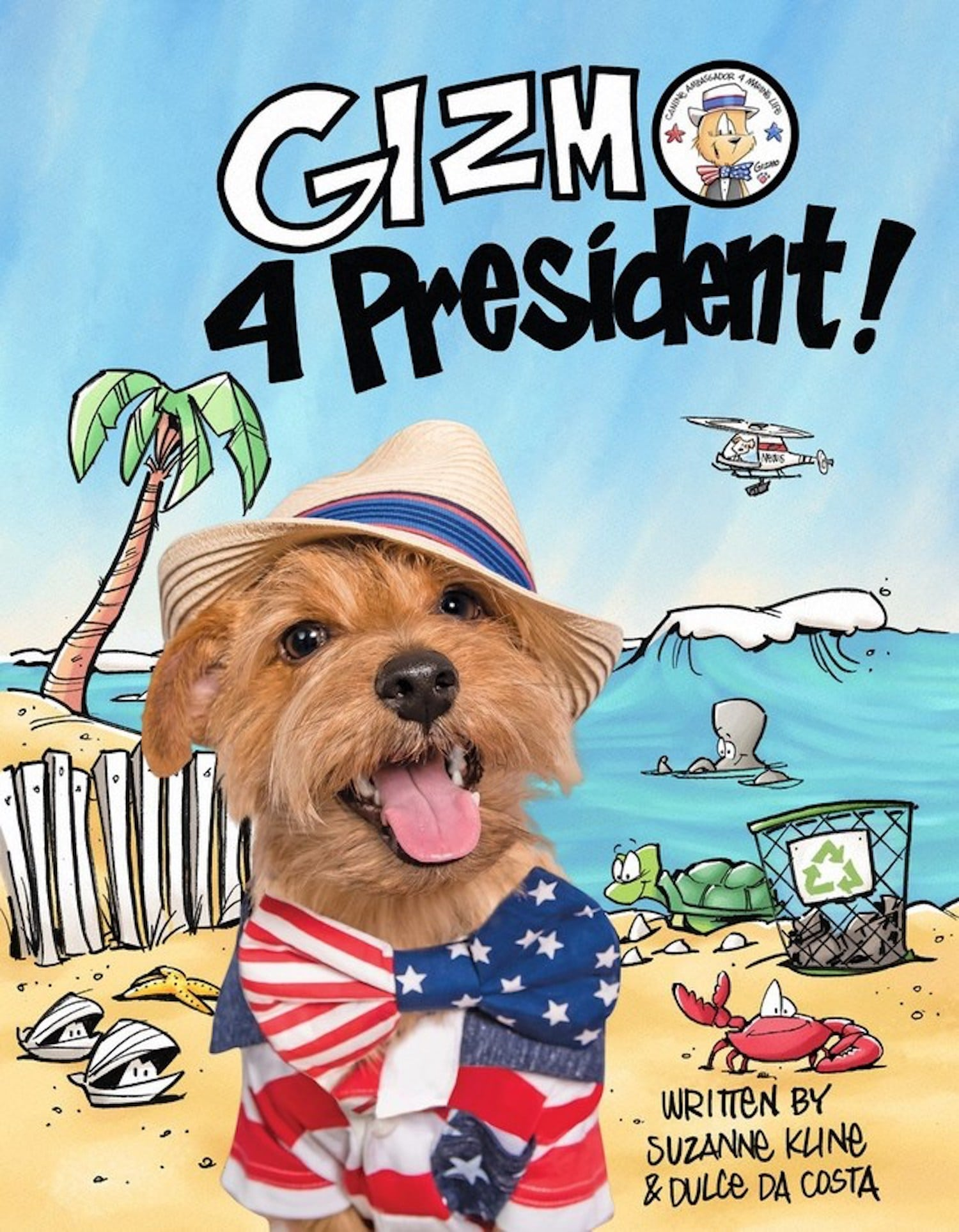 New children's book features Gizmo, a fun-loving surfing dog, and an election theme